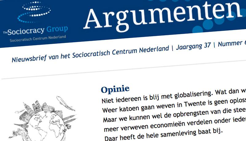 Argumenten Nieuwsbrief Sociocratisch Centrum